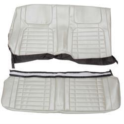 REAR SEAT COVER, COUP, DELUXE INTERIOR, BLACK, REPRO