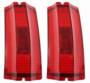 TAIL LAMP LENS, RED, PAIR