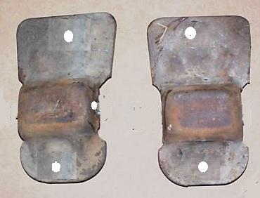 ENGINE FRAME MOUNTS, PAIR, STEEL, 77-88 OLDS