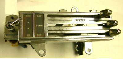 HEATER CONTROL, NO AC, USED