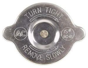 RADIATOR CAP, w/ ORIGINAL MARKINGS, RC15, NEW