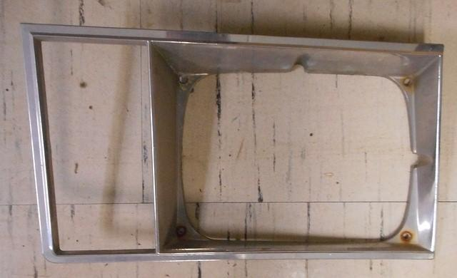 HEADLIGHT BEZEL ,LEFT USED, 78 79 MALIBU ELCAMINO