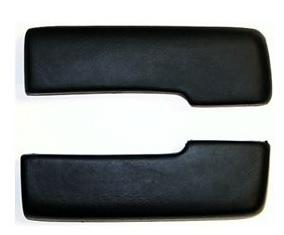 REAR ARM REST PADS, PAIR, FOR COUP, BLACK, NEW