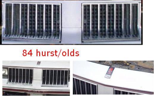 FRONT GRILLS, 84 HURST/OLDS, USED, PAIR