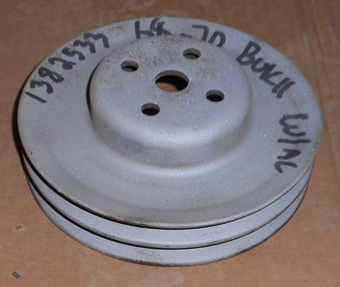 FAN PULLEY, V8, AC, 2 GROOVE, USED, 68-70 BUICK
