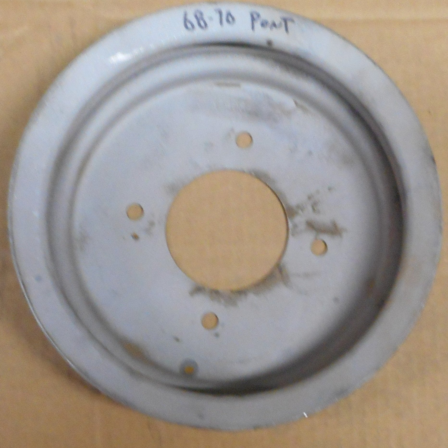 CRANK PULLEY, V8 AC PS 2 GROOVE, USED 68-70 PONTIAC