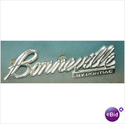 "TRUNK LID EMBLEM, 75-6 ""BONNEVILLE BY PONTIAC"""