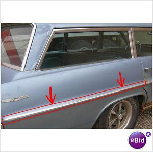 QUARTER PANEL CENTER MOLDING, 64 SAFARI WAGON