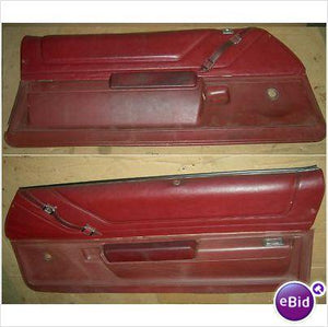 DOOR PANELS, RED, USED, PAIR, 73 GRAND AM