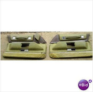 DOOR PANELS, FRONT, PAIR, GREEN, 73 DEVILLE, NICE