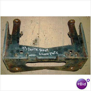 FRONT BUMPER LICENSE PLATE BRACKET, 73 DEVILLE