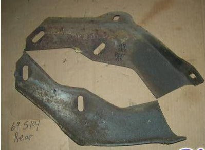 REAR BUMPER BRACKETS  PAIR  68-9 SKYLARK GS SPECIAL