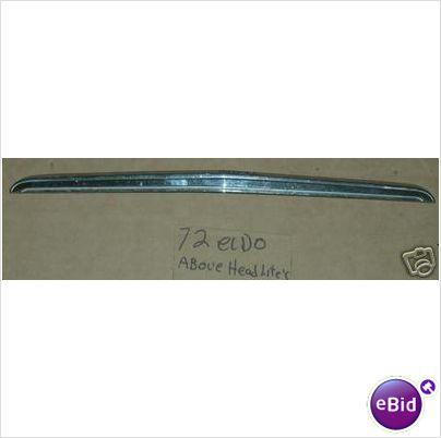 HOOD SIDE MOLDING, 72 ELDORADO, USED
