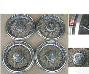"SPOKE WHEEL COVER SET, 15"", USED, 80-84 DELTA, 98"