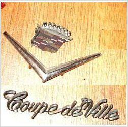ROOF EMBLEMS, 77-9 CADILLAC DEVILLE
