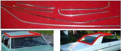 2 TONE PAINT ROOF MOLDING SET, USED, 64-5 SKYLARK