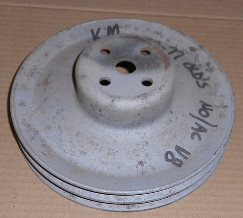 FAN PULLEY, V8 2 GROOVE, NO AC, USED, 70-77 OLDS