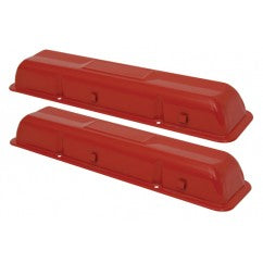 VALVE COVERS ,PAINTED, INDENTED, PR 283 327 NEW 59-66 CHEVY