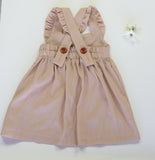 Girls Pale Pink Linen Pinafore/ Jumper