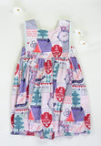 Girls Adventure Print Cotton Dress