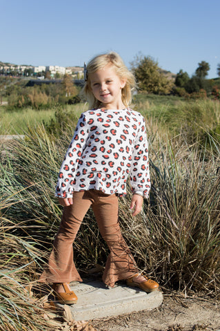 Girls Bell Bottoms Brown corduroy