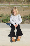 Girls Bell Bottoms Black corduroy