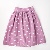 Girls purple rainbow midi length skirt