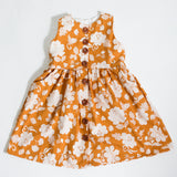 Girls floral button front dress