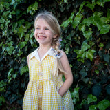 Girls Yellow Gingham dress