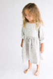 SALE Leopard print grey and white Cotton Dress