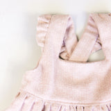 Girls Pink Flannel Pinafore/ Jumper