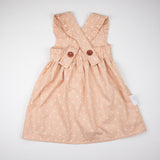 Girls Pink Cross Pinafore/ Jumper