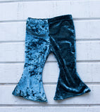 SALE//Girls Bell Bottoms Teal velvet