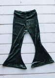 SALE//Girls Bell Bottoms Green velvet