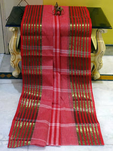 Bengal Handloom Cotton Saree in Zari Nakshi Border