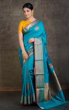 Exclusive Moonga Tussar Banarasi Saree in Rama Green and Antique Gold