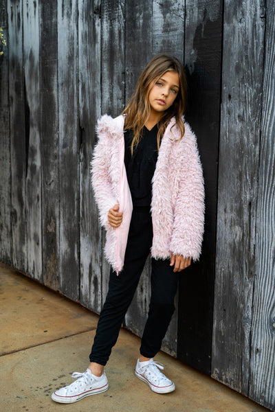 Pink Shaggy Jacket
