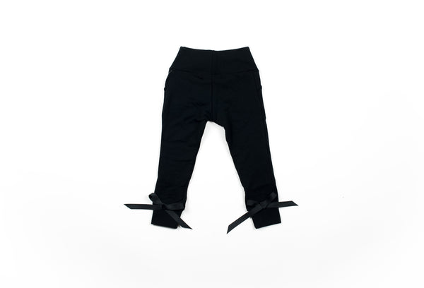 Bow Knot Sweatpant - Black