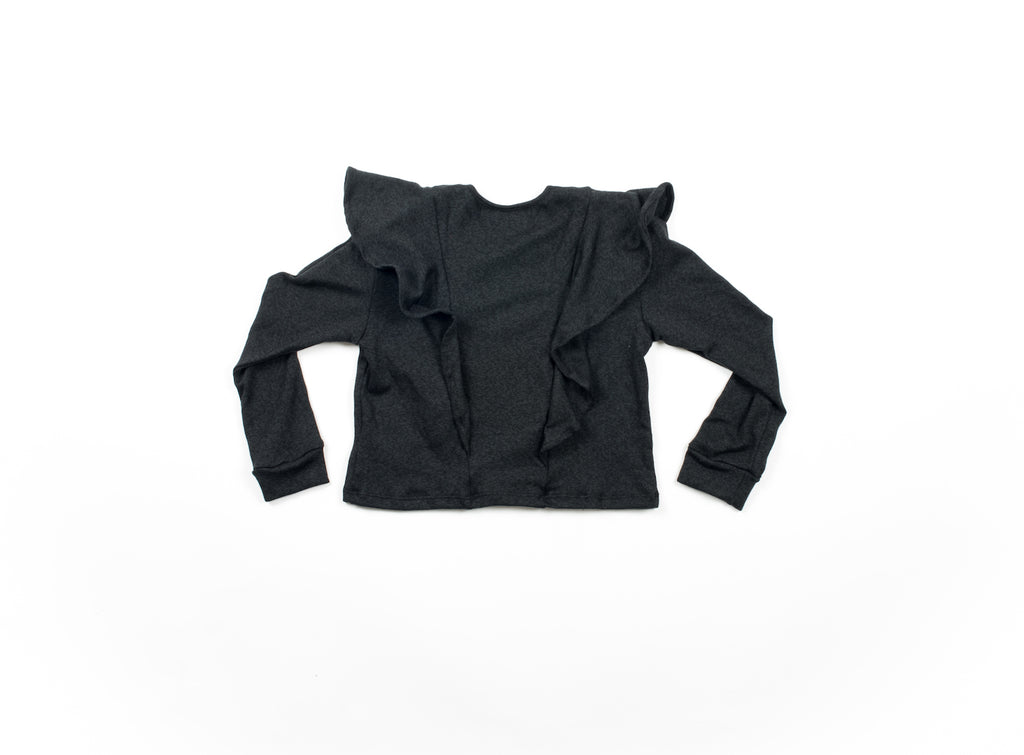 Mila Flutter Sweater - Black