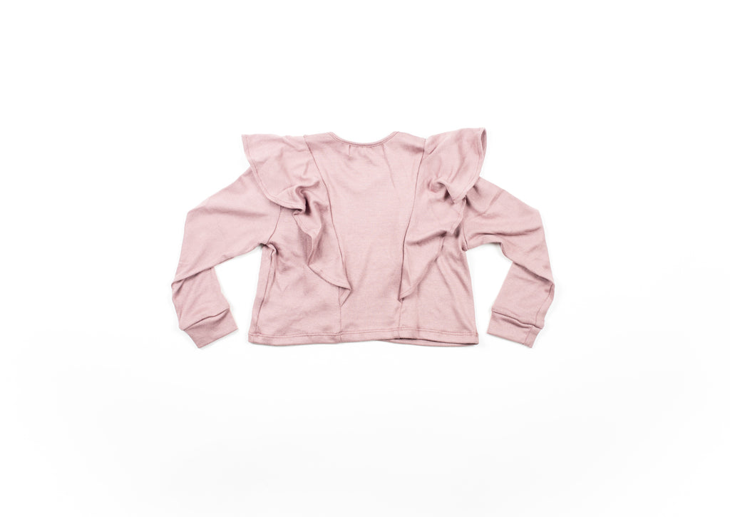 Mila Flutter Sweater - Mellow Mauve