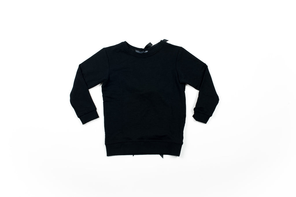 Bow Knot Sweatshirt - Black