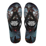 Official Shrine Of Malice Malignance Flip Flops - Crowdkill Apparel Death Metal Deathcore Hardcore Slam Merchandise