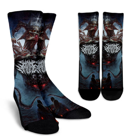 Official Shrine Of Malice Malignance Socks - Crowdkill Apparel Death Metal Deathcore Hardcore Slam Merchandise