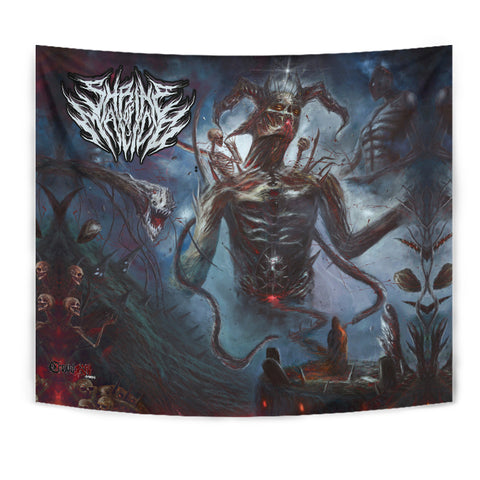 Official Shrine Of Malice Malignance Giant Wall Flag - Crowdkill Apparel Death Metal Deathcore Hardcore Slam Merchandise