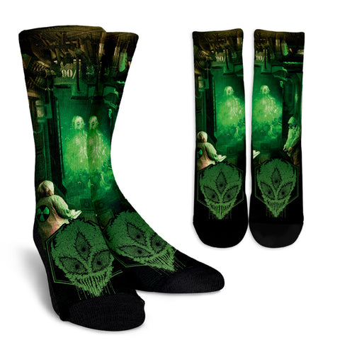 Official Gamma Sector Elements Of Contamination Socks - Crowdkill Apparel Death Metal Deathcore Hardcore Slam Merchandise