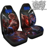 Official Abominable Putridity The Anomalies Of Artificial Origin Car Seat Covers - Crowdkill Apparel Death Metal Deathcore Hardcore Slam Merchandise