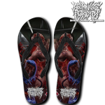 Official Abominable Putridity The Anomalies Of Artificial Origin Flip Flops - Crowdkill Apparel Death Metal Deathcore Hardcore Slam Merchandise