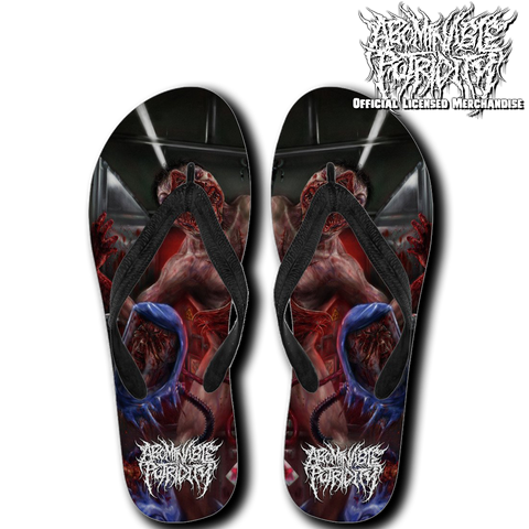Official Abominable Putridity The Anomalies Of Artificial Origin Flip Flops