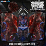 Official Abominable Putridity The Anomalies Of Artificial Origin Hooded Blanket - Crowdkill Apparel Death Metal Deathcore Hardcore Slam Merchandise