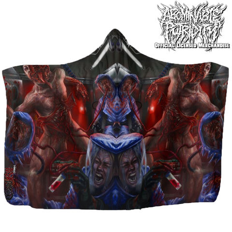 Official Abominable Putridity The Anomalies Of Artificial Origin Hooded Blanket